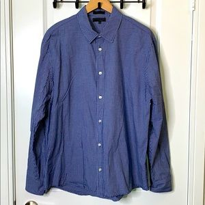 XL Private Member Blue Plaid Shirt